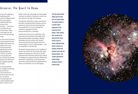 pages from Astrophysics brochure