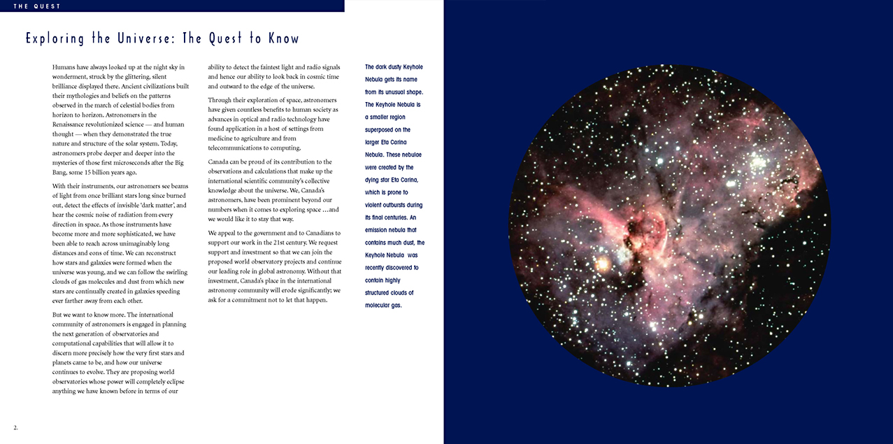 Canada Exploring the Universe Brochure
