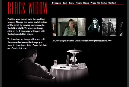 page from black widow site