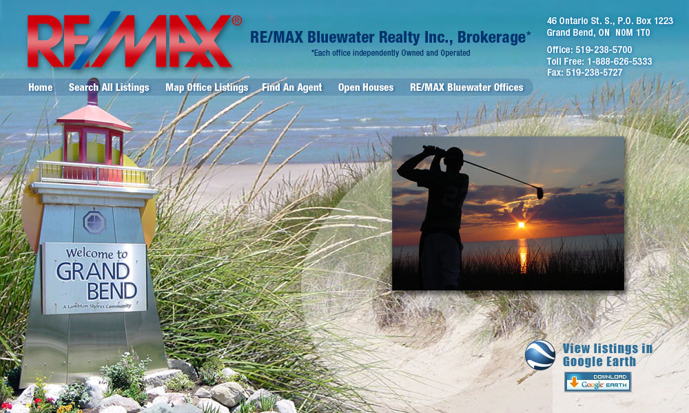 RE/MAX Bluewater Realty site