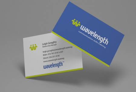 business card design showing front and back of cards