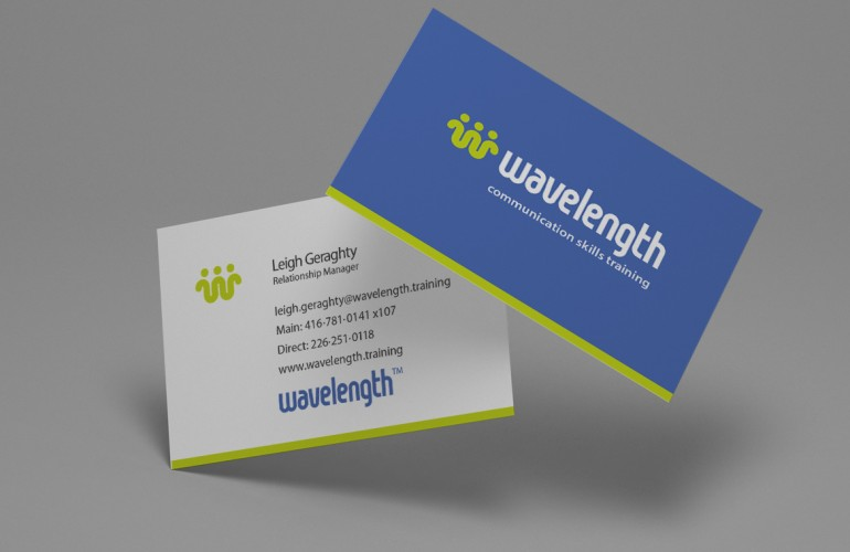 Business Card Design for Wavelength