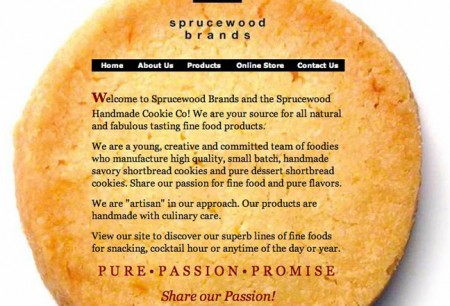 home page of sprucewoodbrands website