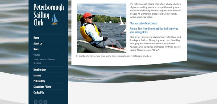 New website for Peterborough Sailing Club