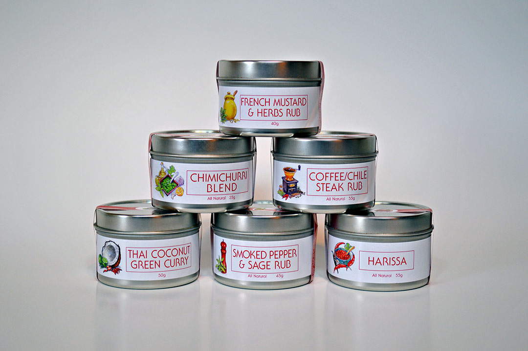 Product labels for The Epicentre Spices