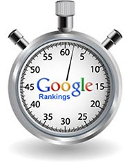 stop watch with google ranking logo