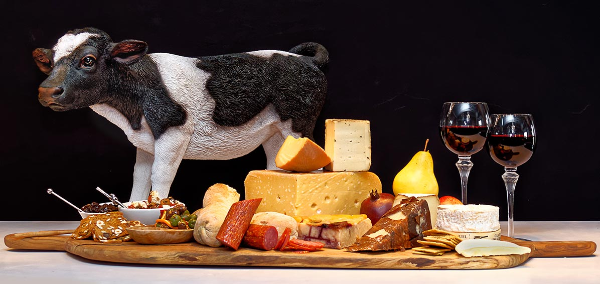 Cheese Platter with Cow