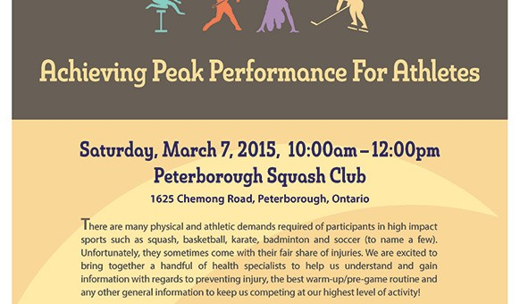 Poster for Peak Athletic Performance Event