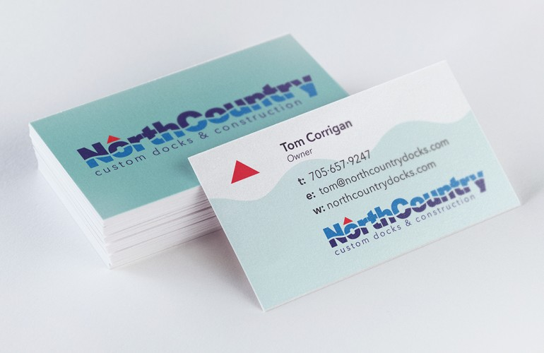 North Country Docks Logo & Business Card