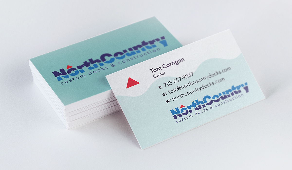 logo design and business card design for North Country Docks