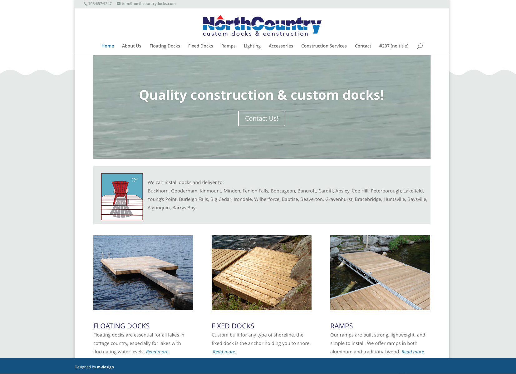 North Country Docks Website
