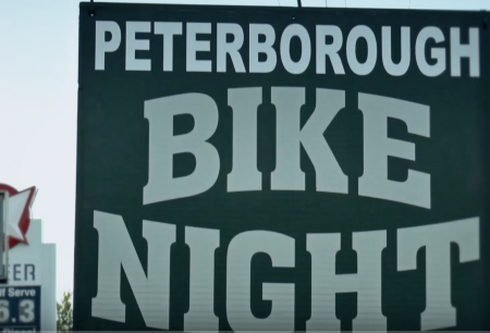 Sign that reads Bike Night