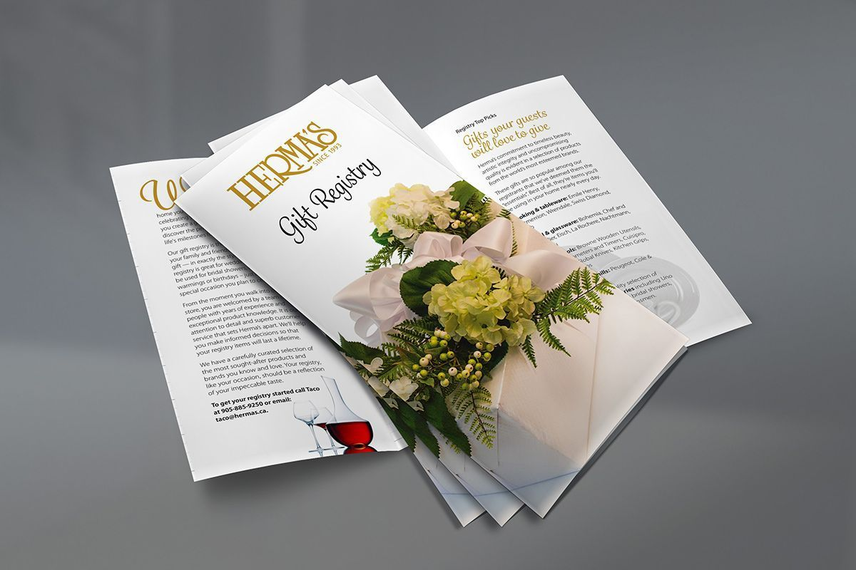Brochure Design for Gift Registry