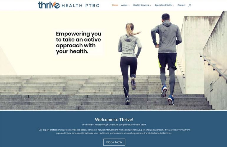 Thrive Health Ptbo website