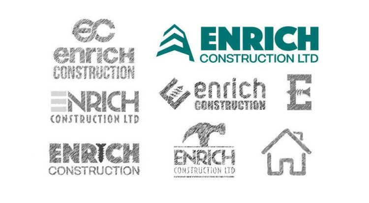 Enrich Construction Logo Designs