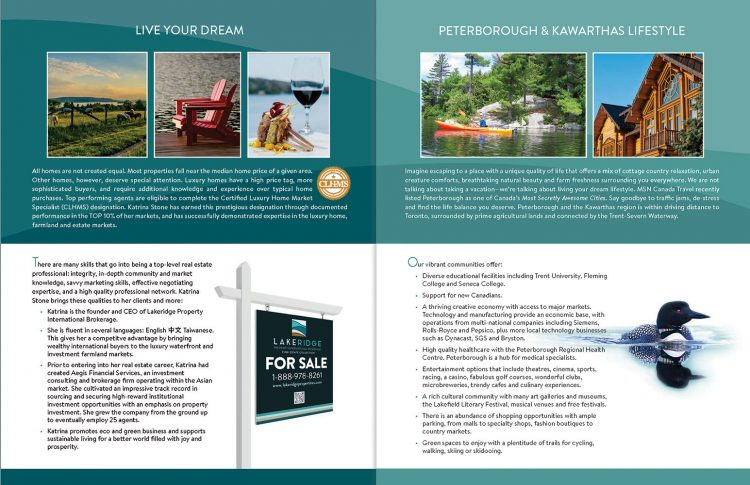 Brochure/folder for Realtor